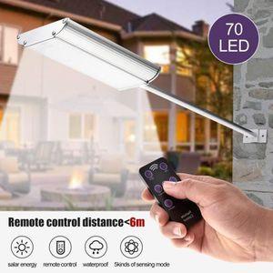 LAMPE DE JARDIN  Applique solaires 70 LED avec télécommande lampe d