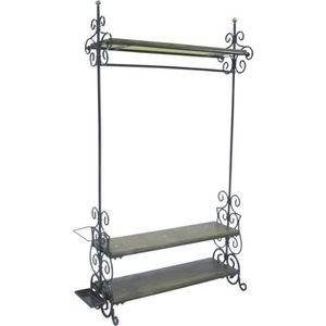portes manteaux metal avec etageres achat vente portes manteaux metal avec etageres pas cher. Black Bedroom Furniture Sets. Home Design Ideas