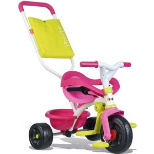 POUSSETTE  SMOBY Tricycle Enfant Evolutif Be Fun Confort Rose