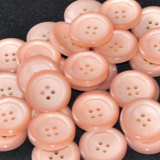 x 10 1.2cm Rose crème nouveauté boutons