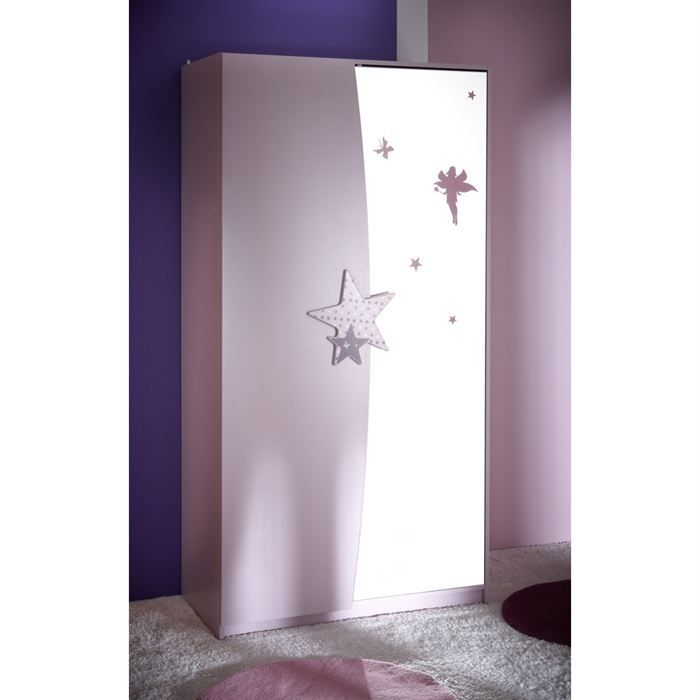 fairy armoire 2 portes miroir achat vente armoire de chambre fairy armoire 2 portes. Black Bedroom Furniture Sets. Home Design Ideas