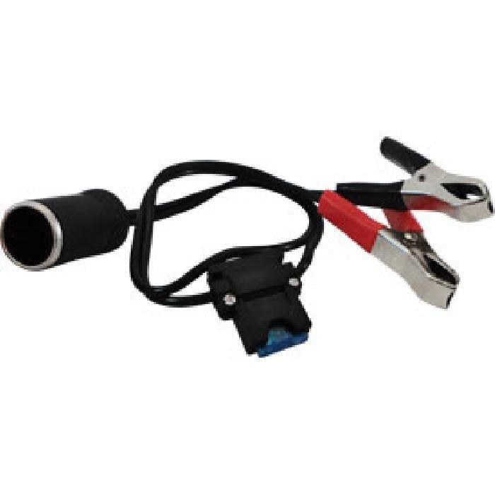Adaptateur d'alimentation à pinces avec fusible - 12 V / 15A