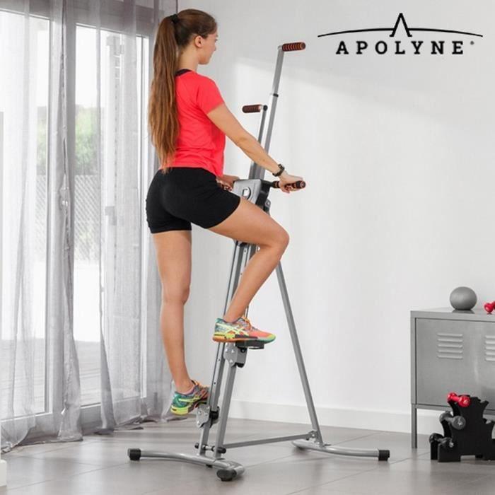Appareil machine Fitness musculation Grimpeur escalade inovation Jambes fesses bras abdos cuisse plus video exercices