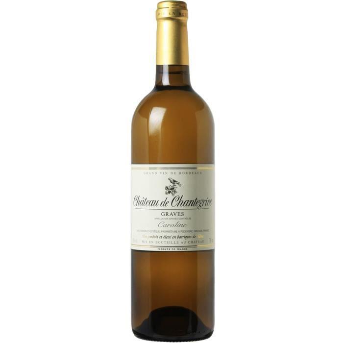 Château Chantegrive Cuvée Caroline - Blanc - 2018 - Carton de 6 Bouteilles 75cl