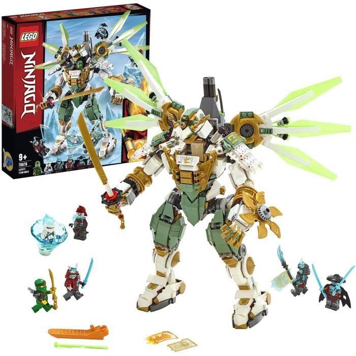 Jeux de construction LEGO®-NINJAGO® Le robot Titan de Lloyd Jeu pour Enfant 9 Ans et Plus, Briques de Construction Garço 52563