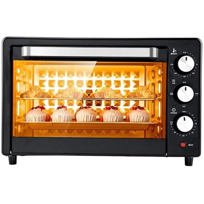 SHUI 20L Mini Four - 1360W Four électrique 60 Minutes Minuterie Temps de Cuisson Automatique Pizza Tart Biscuits