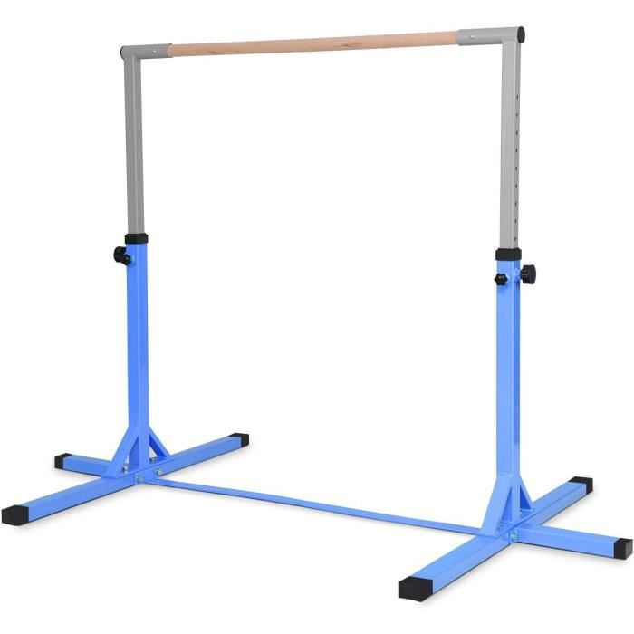 DIP STATION ay Barre Gymnastique en Acier Hauteur Reacuteglable de 91 agrave 150CM Capaciteacute de poids100KG pour Ecole Maison90