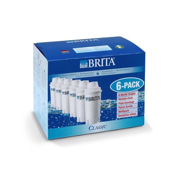 BRITA Pack de 6 cartouches filtratantes Classic blanc