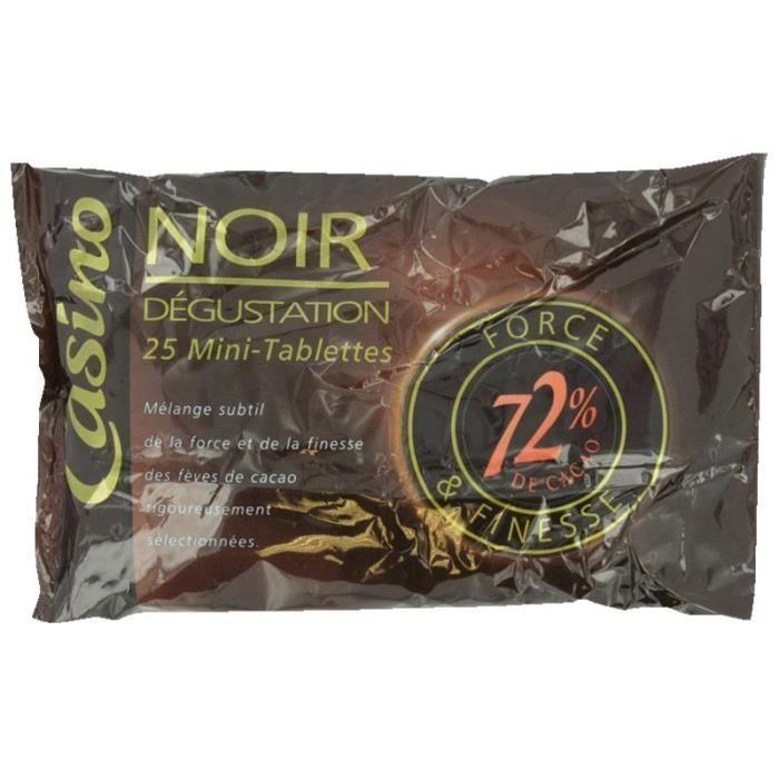 Mini tablettes de chocolat noir Dégustation - 200 g