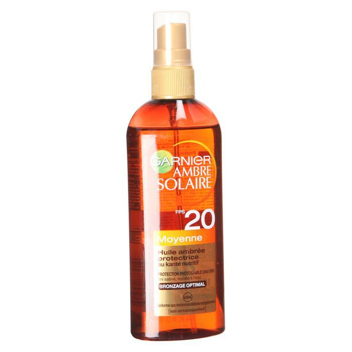 GARNIER Spray Huile Ambrée protectrice Ambre Solaire - FPS20 - 150ml