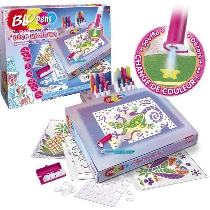 LANSAY Jeu de coloriage Blopens Super centre d'activités déco magiques - Fille - À partir de 6 ans