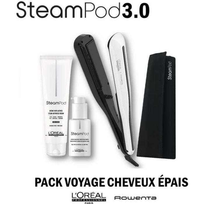 L'Oréal Professionnel Steampod 3.0 Lisseur + Crème Cheveux Epais 150 ml + Sérum 50 ml + Trousse Steampod