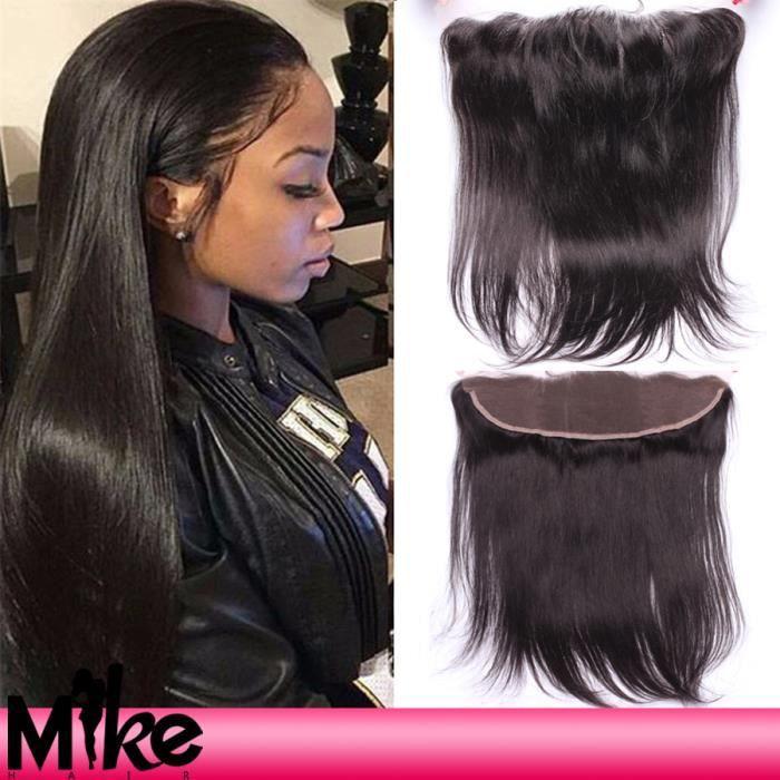 Peruvienne cheveux humains 13x4 frontals lace closure lisse naturel cheveux