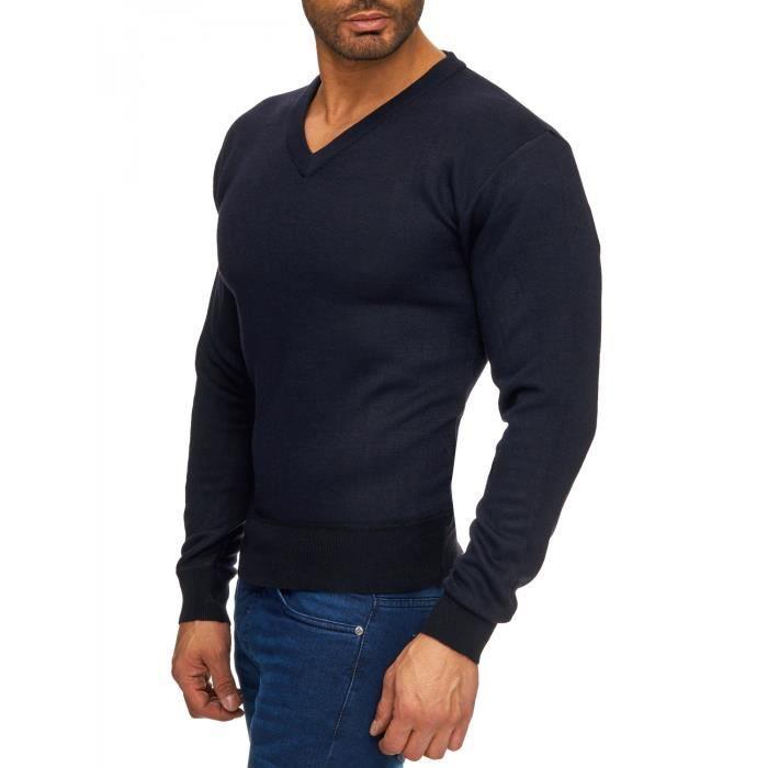 Pull sweats en tricot Col V Hommes Pull (différentes couleurs)