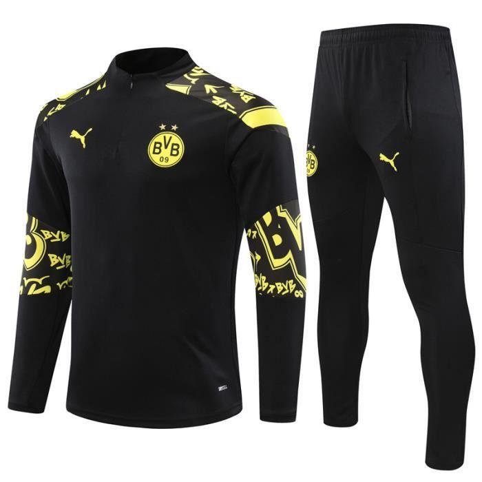 BVB Dortmund - 2020-2021 Maillot de Football Homme Enfants Adultes Ensemble Survêtements D'entraînement de Football