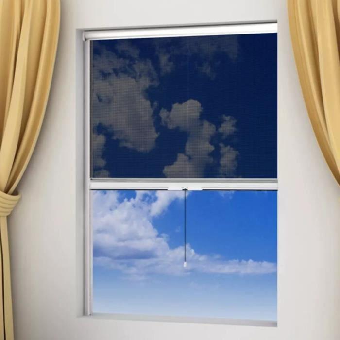 Haute qualité Moustiquaire enroulable blanche pour fenêtre 80 x 170 cm