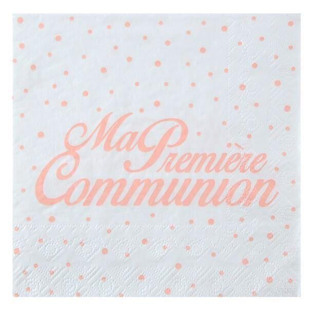 Serviette de table communion corail (x20) REF/6298