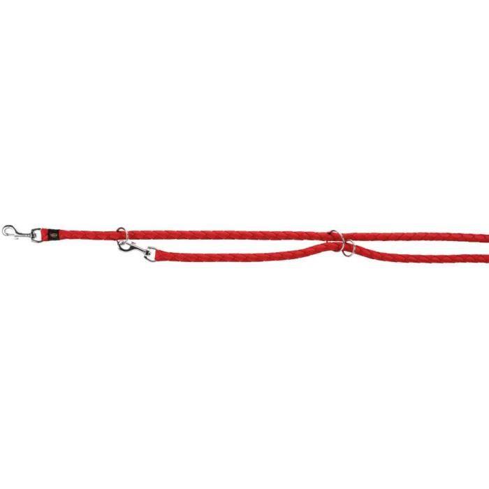 Cavo laisse réglable - L-XL: 2,00 M-ø 18 mm, rouge