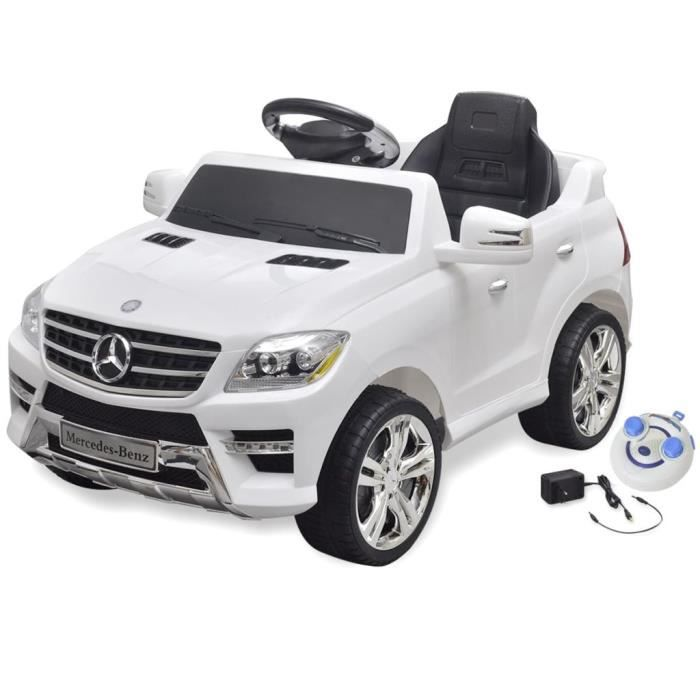 Voiture électrique - Mercedes Benz ML350 - 6 V - Avec télécommande - Blanc