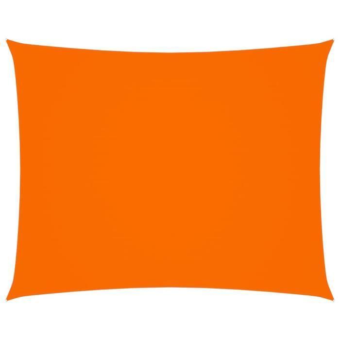 Voile de parasol Tissu Oxford rectangulaire 2x2,5 m Orange
