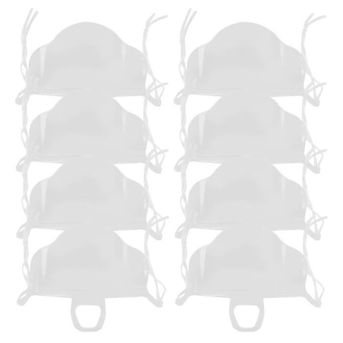 10 PCS Pratique En Plastique Transparent Visage Bouclier Masque Bouche Anti-buée pour Hôtel Restaurant Cuisine