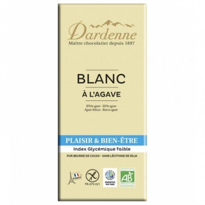 Tablette chocolat blanc agave 100gr