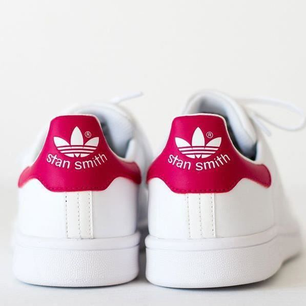 adidas stan smith blanc rose taille 36 2 3 neuves achat vente basket 2009913705406 cdiscount. Black Bedroom Furniture Sets. Home Design Ideas