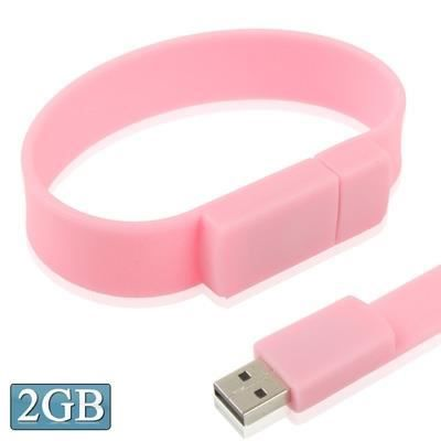 2gb silicon bracelets usb 2 0 cl clef usb rose prix. Black Bedroom Furniture Sets. Home Design Ideas