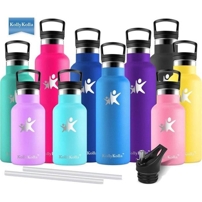 la Randonn/ée L/école Gris Petfu Bouteille deau de Sport 1 Litre sans BPA Tritan R/éutilisable Plastique Bouteilles Anti-fuites avec Filtre Convient pour Le Sport