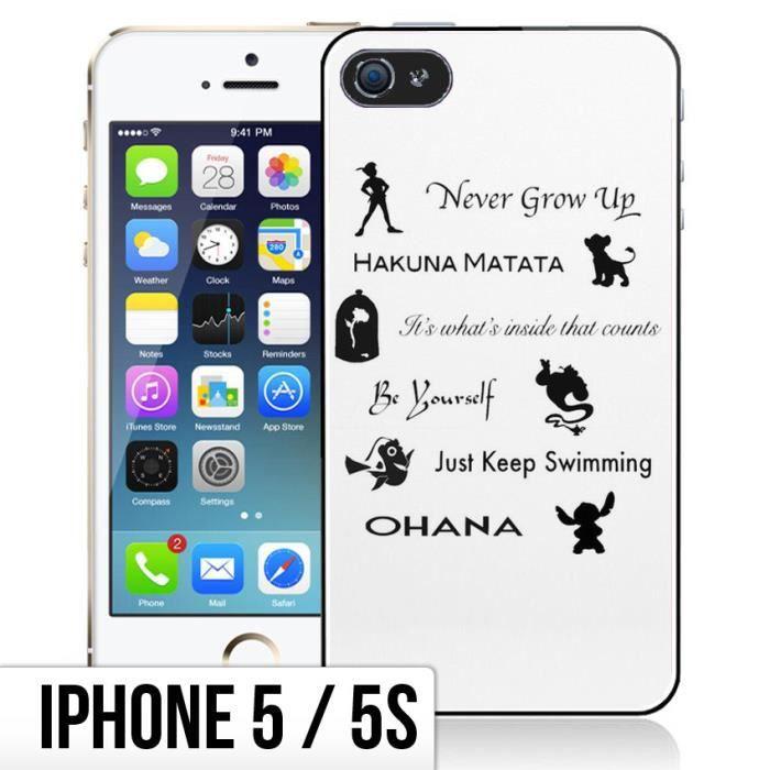 Coque iPhone 5-5S Citations Disney