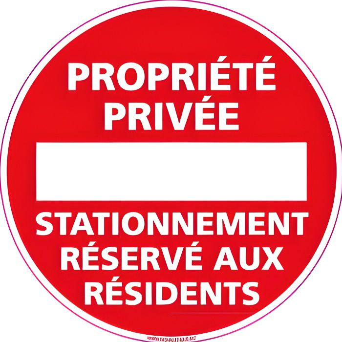 Interdit propriété privée stationnement interdit