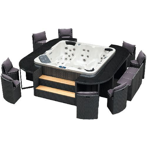 salon de jardin modulable spa jacuzzi excelsior achat vente salon de jardin set lounge spa. Black Bedroom Furniture Sets. Home Design Ideas