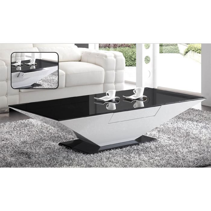 table basse noir et blanc. Black Bedroom Furniture Sets. Home Design Ideas