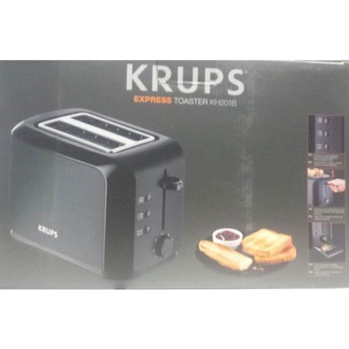 grille pain toaster krups achat vente pas cher. Black Bedroom Furniture Sets. Home Design Ideas
