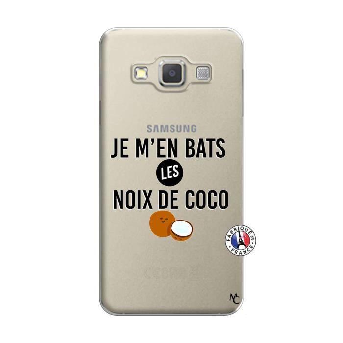 Coque pour Samsung Galaxy A3 2015 motif Je m en bats Les Noix De ...