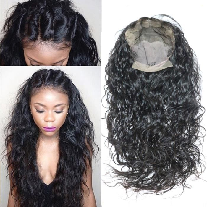 Perruque cheveux naturel Bresilien wet wavy