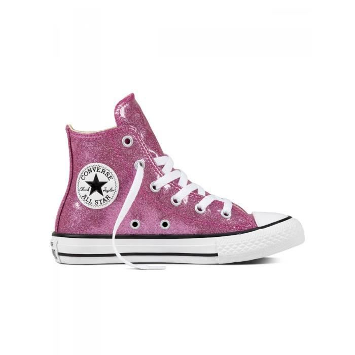 CONVERSE - Baskets chuck taylor all star glitter rose enfant ...