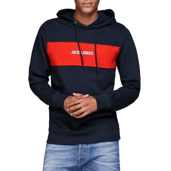 Sweat Jack and Jones Jorjosh Marin Homme Bleu Bleu - Achat   Vente ... bf13b0db9003