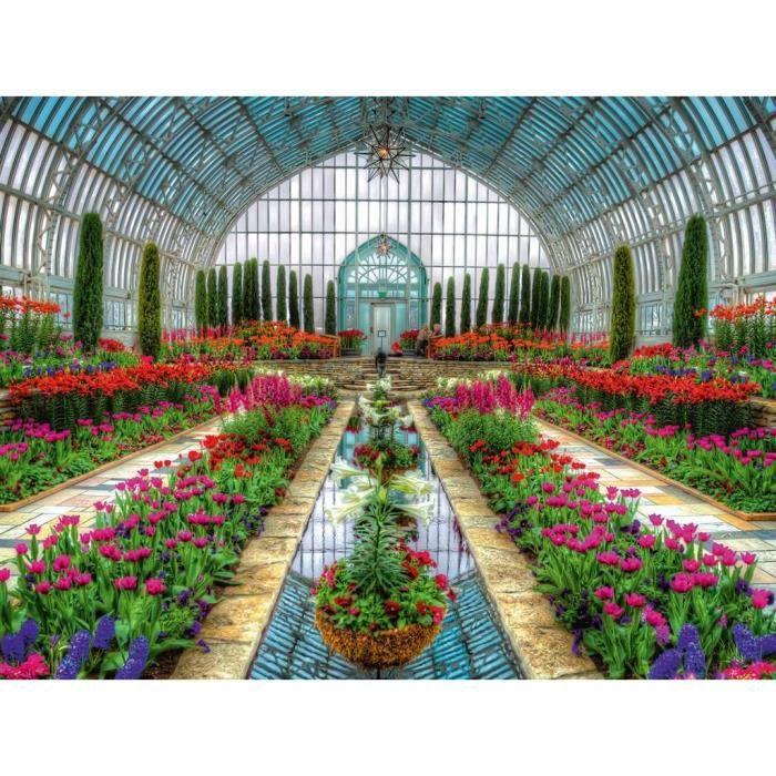 PUZZLE Puzzle Ravensburger Jardin Atrium en serre 1500 pc
