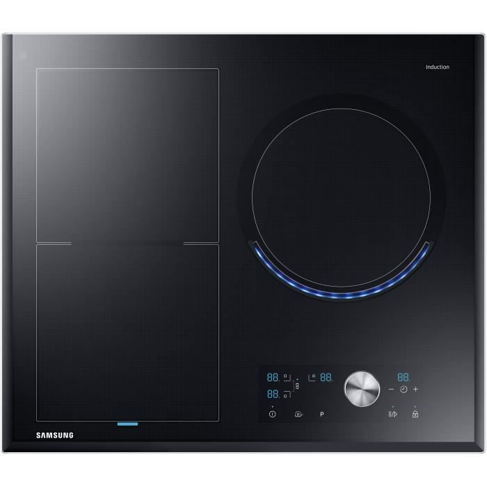 Samsung Nz63j9770ek Ef Table De Cuisson Induction 3 Zones 6800w L60 Cm Revetement Verre Noir Achat Vente Plaque Induction Cdiscount