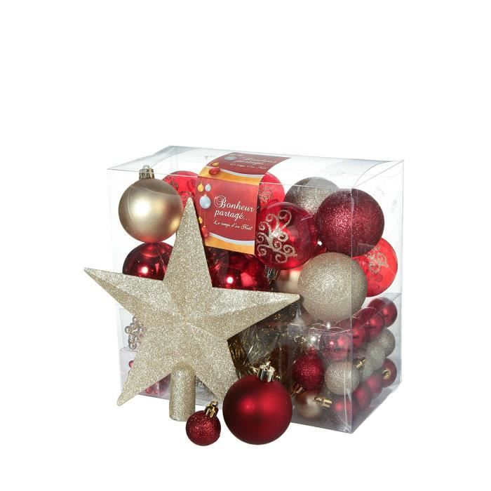 Kit de d coration de sapin achat vente boule de no l for Achat decoration de noel