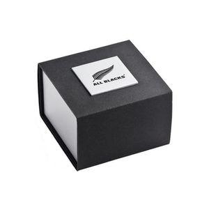 MONTRE Montre All Blacks Homme Acier Bracelet Cuir Noir 6
