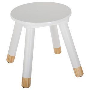 TABLE ET CHAISE Tabouret douceur blanc pour enfant en bois Autres