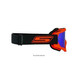 LUNETTES - MASQUE S-LINE - Masque Moto Cross ECO Orange Bleu Iridium