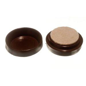 de feutre de 44 mm tasses de ricin meubles protecteur de plancher glisse bruns pck 12