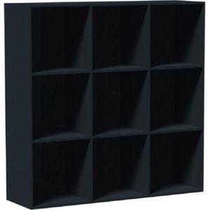 CASIER POUR MEUBLE Cube de rangement 9 niches Noir - Cube de rangemen