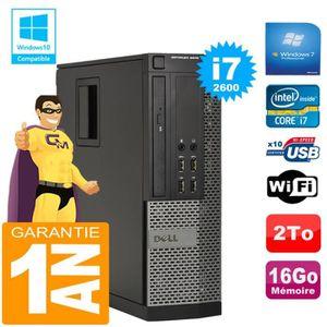 UNITÉ CENTRALE + ÉCRAN PC Dell Optiplex 9010 SFF Core I7-2600 RAM 16Go Di