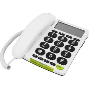 Téléphone fixe DORO Téléphone filaire PhoneEasy 312cs avec ID d'a
