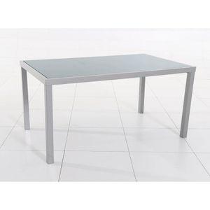 TABLE DE JARDIN  Table rectangulaire PIAZZA 4 - 6 places gris silve