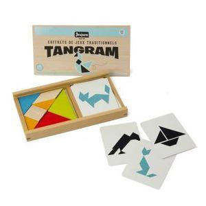 JEU SOCIÉTÉ - PLATEAU JEUJURA Jeu de tangram en bois - Coffret en bois